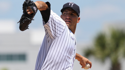 Andy Pettitte has a 1.29 ERA in two Florida State League starts.