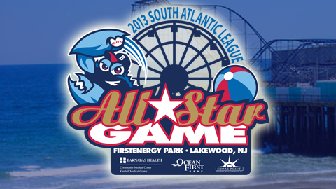 2013 will mark the second time (2002) the BlueClaws have hosted the league's All-Star Game.