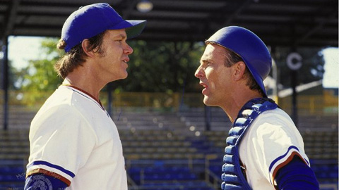 Tim Robbins and Kevin Costner let viewers listen in on mound talk.